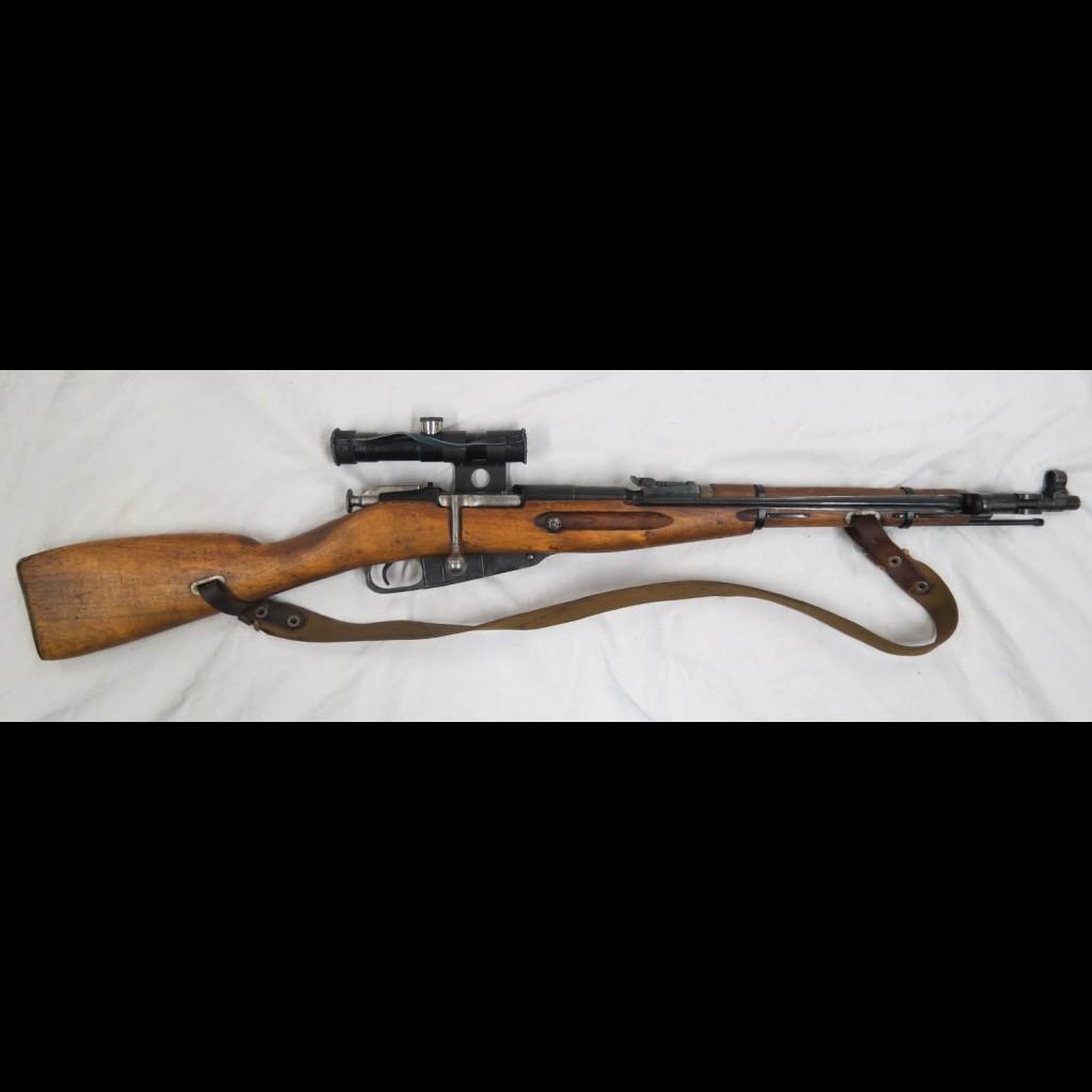 Qui a dit que le M44 n'est pas précis ??? Carabine-russe-mosin-nagant-m44-sniper-avec-lunette-datee-46