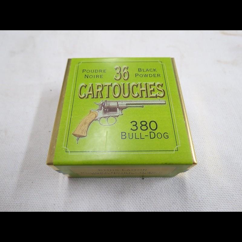 51e7ac2cb41 Cartouches poudre noire pour révolver 380 BULL- DOG compatible 38 S W