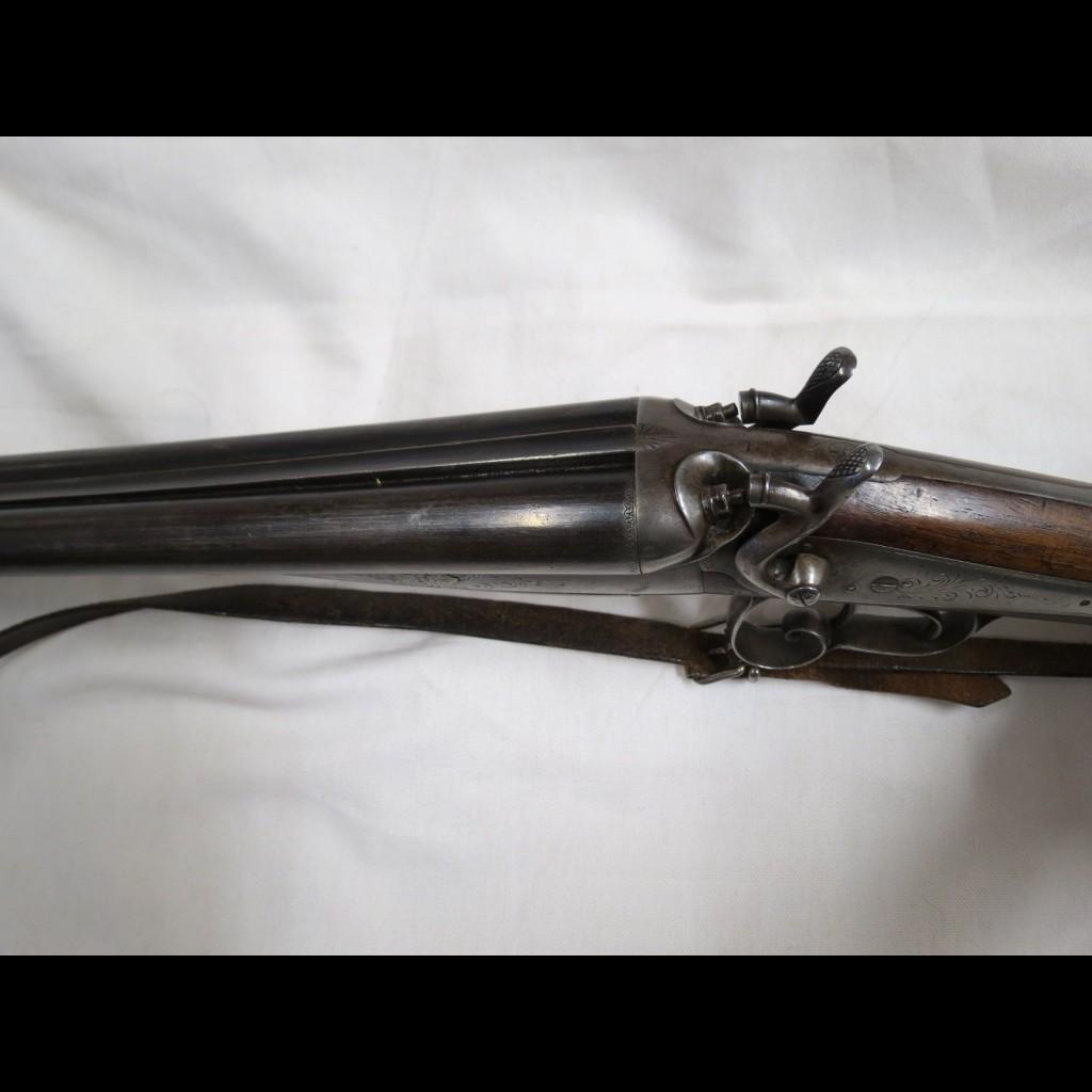 64e39c760f1 Fusil de chasse juxtaposé à chien cartouche percussion centrale ...